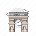 arc, arc de triomphe, landmark, monument, paris, triomphe icon