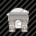 arc, arc de triomphe, landmark, monument, paris, triomphe icon
