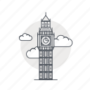 ben, big, england, landmark, london, tower