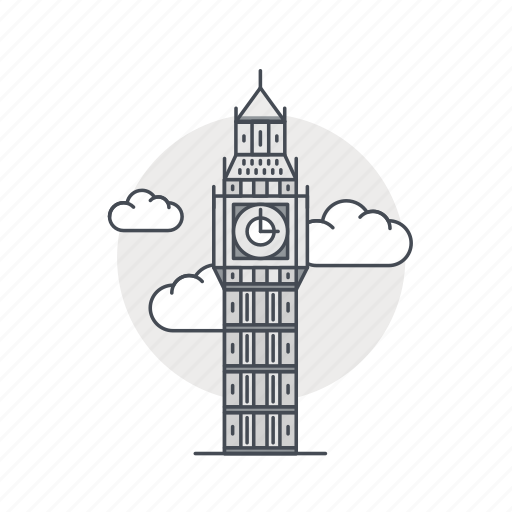 ben, big, england, landmark, london, tower icon