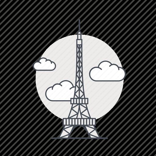 eiffel, france, landmark, monument, paris, tower icon