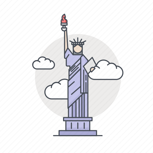 america, landmark, liberty, monument, usa, world icon
