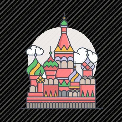 building, landmark, moscow, rusia, world icon