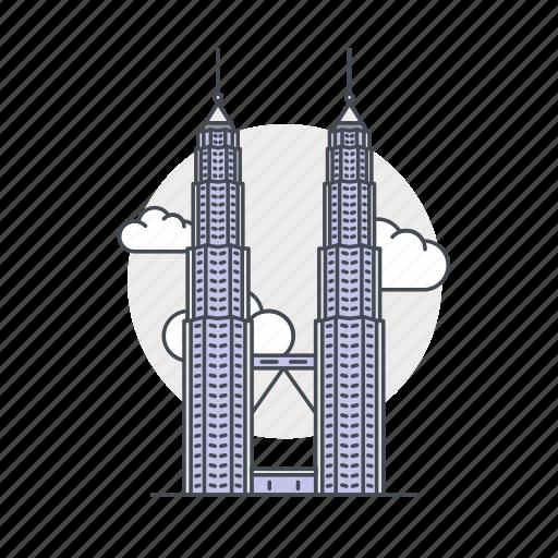 landmark, malaysia, petronas, tower, world icon