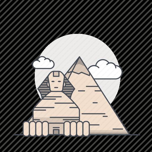 egypt, landmark, piramid, piramida, spinks, world icon
