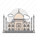 building, india, landmark, mahal, taj, taj mahal icon
