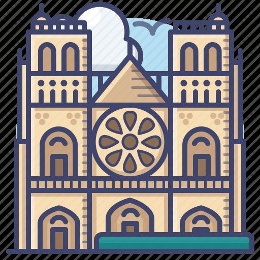 Cathedral, dame, landmark, notre icon - Download on Iconfinder