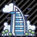 al, arab, architecture, burj, dubai, hotel icon