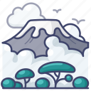 landscape, kilimanjaro, mountains, hills