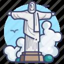 brazil, christ, redeemer, rio icon
