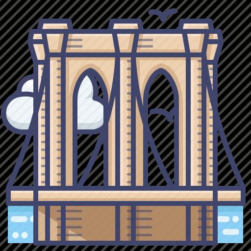 bridge, brooklyn, manhattan, new, york icon