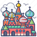 basils, cathedral, landmark, moscow, russia, saint