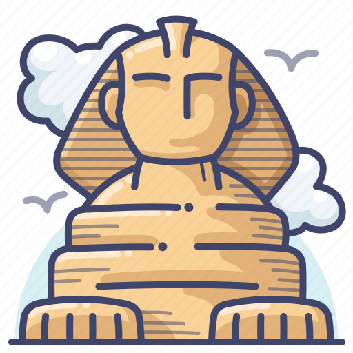 egypt, great, landmark, sphinx icon