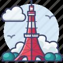 japan, landmark, tokyo, tower