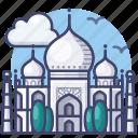 india, landmark, mahal, taj