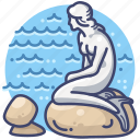 copenhagen, danmark, mermaid, statue