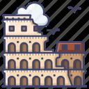 colosseum, italy, landmark, rome icon