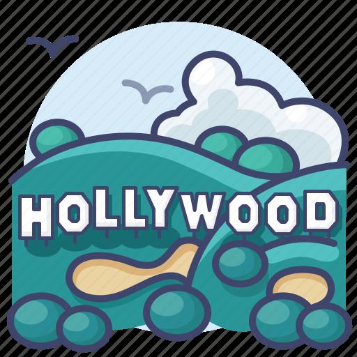 california, hollywood, los angeles, mount icon