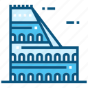 colosseum, world, landmarks, monument, travel, italy, tourisme icon
