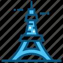 eiffel, tower, landmarks, monument, paris, france, tourisme icon