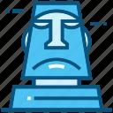 moai, chile, world, landmarks, monument, travel icon