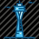 space, needle, world, landmarks, monument, travel, usa icon