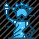 statue, liberty, world, landmarks, monument, travel, usa icon