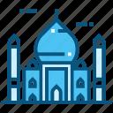 taj, mahal, world, landmarks, monument, travel, india icon