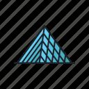 glass, landmark, louvre, museum, pyramid, sight icon