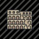 building, colosseum, gladiator, italy, landmark, rome, sight icon