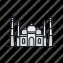 india, landmark, sight, taj mahal, temple icon
