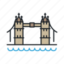 bridge, england, landmark, london, sight, themse icon