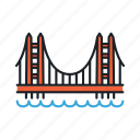 bridge, gate, golden, landmark, san francisco, sight, usa icon