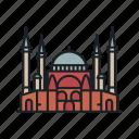 cathedral, hagia, istanbul, landmark, sight, sophia, turkey icon