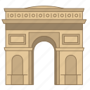 arc, gate, landmark, paris, travel, triomphe, wonder icon