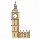 ben, big, england, landmark, london, travel, watch icon