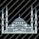 blue, istanbul, landmark, mosque, sultan ahmad, travel, turkey