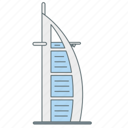 arab, building, burj, dubai, hotel, landmark, travel icon