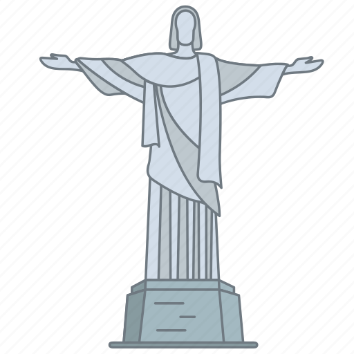brazil, christ, landmark, redeemer, statue, travel, wonder icon