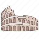 amphitheatre, colosseum, italy, landmark, roman, travel, wonder icon