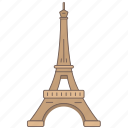 eiffel, france, landmark, paris, tower, travel, wonder icon