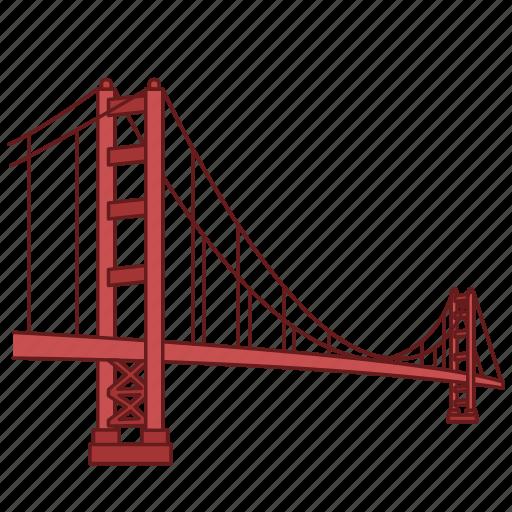 architecture, bridge, gate, golden, landmark, travel, wonder icon