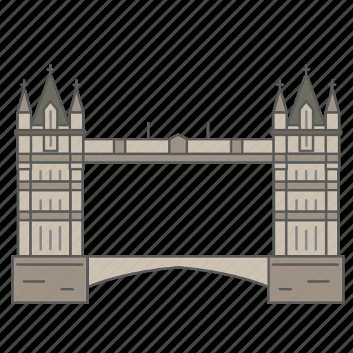 bridge, landmark, london, thames, tower, travel, wonder icon