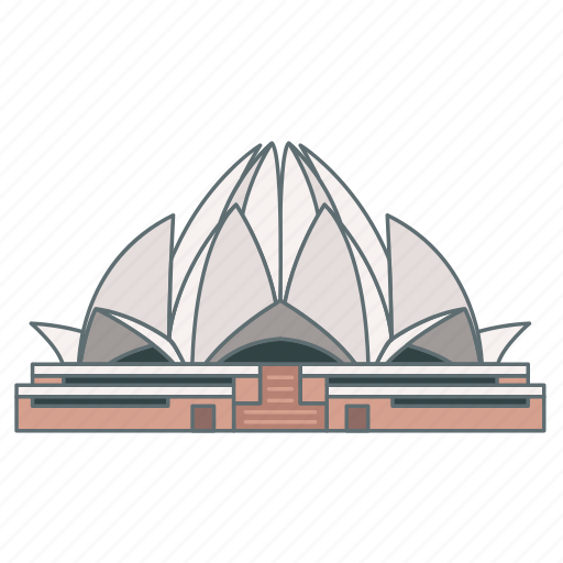 architecture, india, landmark, lotus, temple, travel, wonder icon