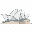 australia, house, landmark, opera, sydney, travel, wonder icon