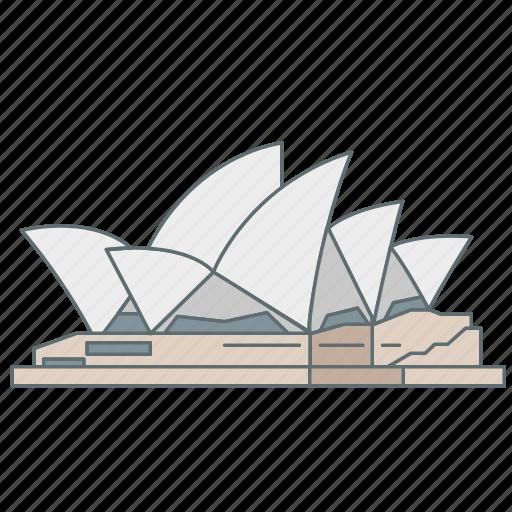 australia, house, landmark, opera, sydney, travel, wonder icon