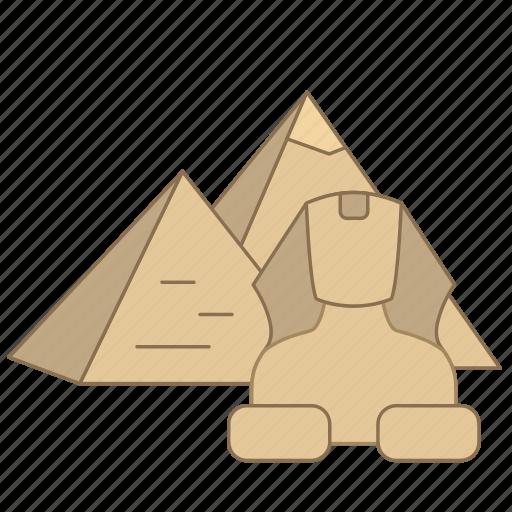 alexandria, egypt, landmark, pyramid, rome, travel, wonder icon