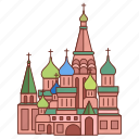 basils, cathedral, landmark, moscow, russia, saint, travel icon