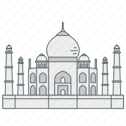 india, landmark, mosque, mumtaj, tajmahal, travel, wonder icon