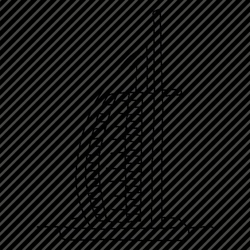 Al Arab Architecture Buildings Burj Dubai Sketch Icon Download On Iconfinder
